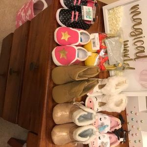7 pairs baby shoes, boots